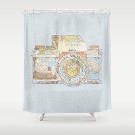 TRAVEL NIK0N Shower Curtain