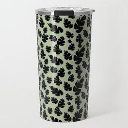Green Pinecone Floral Travel Mug