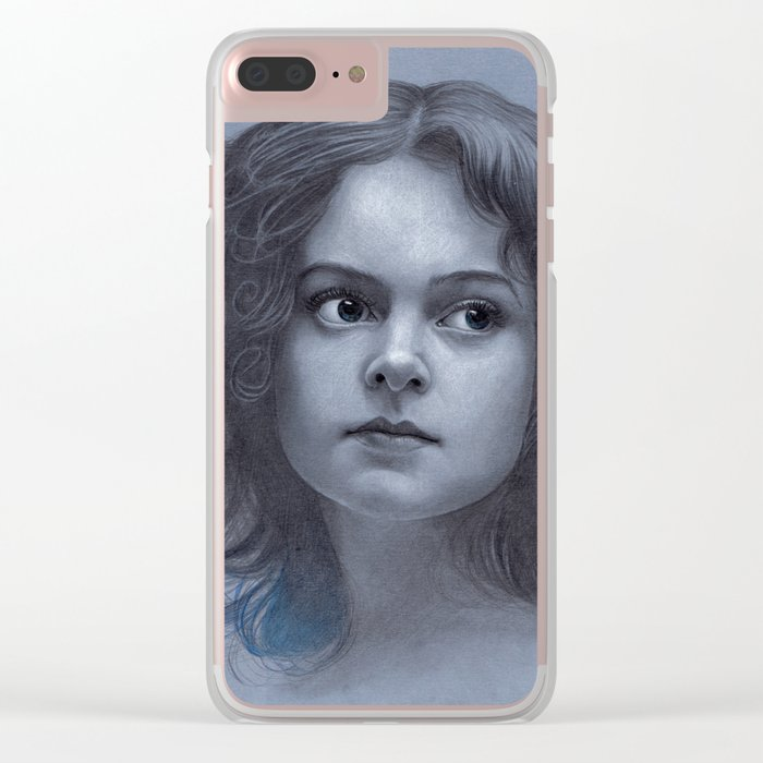 Behind greyness - pencil drawing on paperboard Clear iPhone Case