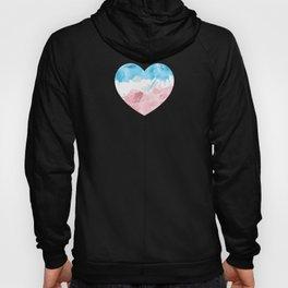 Gay Pride LGBT Transgender Love Heart Art design Hoody