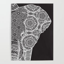 Elphant mandala 2 Poster