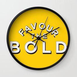 Favour the BOLDER Wall Clock