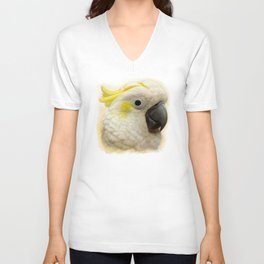 Sulphur Crested Cockatoo realistic painting Unisex V-Neck