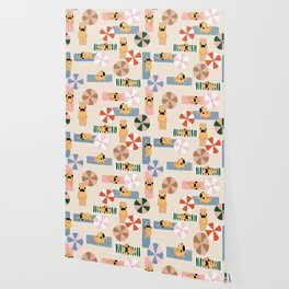 Pug Beach Yoga Wallpaper