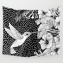 Hummingbird garden Wall Tapestry