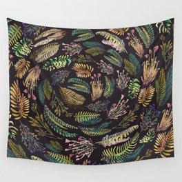 rotation black garden Wall Tapestry