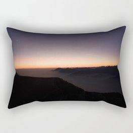 monte baldo garda lake italy drone shot aerial view sunset mountains dust path clouds Rectangular Pillow