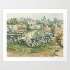 Sherman Tank Art Print