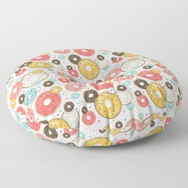 Doughnuts Sprinkles Sugar And Dots Pattern  Floor Pillow