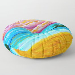 Pāʻia Bay Sunrise Floor Pillow