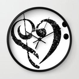 I Heart Music Wall Clock