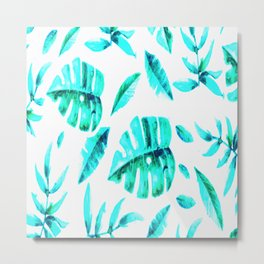 BLUE-TROPICAL Metal Print