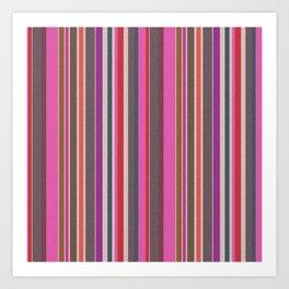 Pink Harmony Stripes Watercolor Art Print