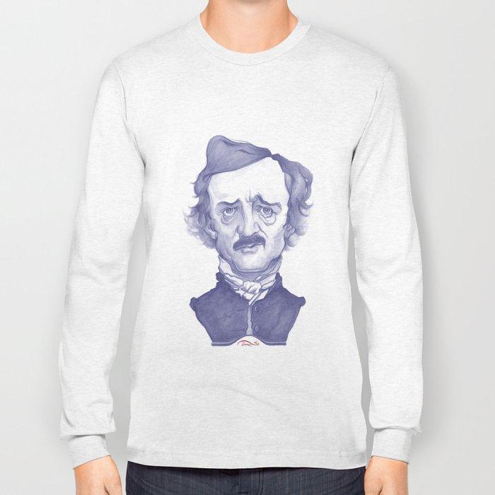 Edgar Allan Poe illustration Long Sleeve T-shirt