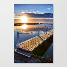 Sunrise Over Pool Canvas Print