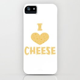 Funny Cheese T-Shirt for people who are addicted to cheese Gouda Buttercheese yellow  iPhone Case