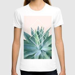 Agave geometrics - peach T-shirt