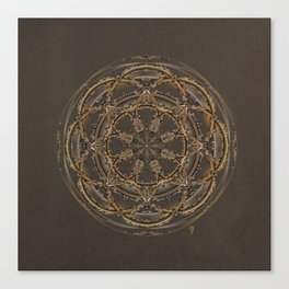 Copper, Siver, and Gold Mandala Canvas Print