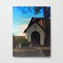 Taking a rest at the chapel Metal Print
