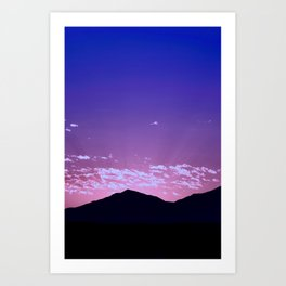 SW Mountain Sunrise - I Art Print