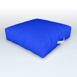 NOW GLOWING BLUE solid color Outdoor Floor Cushion