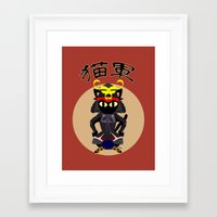 army Framed Art Prints featuring Cat Army by BATKEI