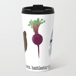 BEARS. BEETS. BATTLESTAR GALACTICA. Travel Mug