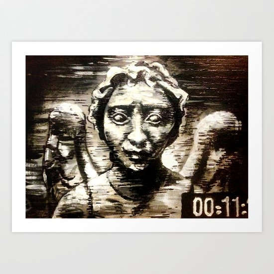 """Image of an Angel"" Weeping Angel from Doctor Who Art Print"