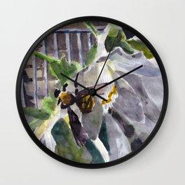 Carpenter Bee and Hosta Wall Clock