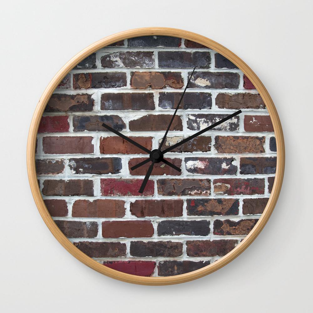 Brick Wall Vertical Wall Clock By Tiffanydawnsmith Society6
