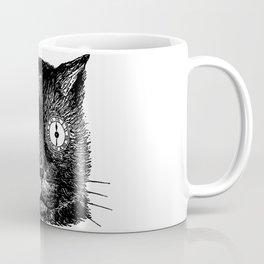 Vintage steampunk cat head with clock eyes Coffee Mug