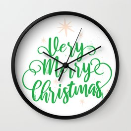 Very Merry Christmas Wall Clock