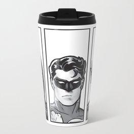 Superheros In Grey Travel Mug