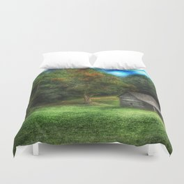 Cabin on the Parkway Duvet Cover