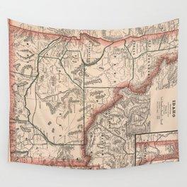 Vintage Map of Idaho (1883) Wall Tapestry