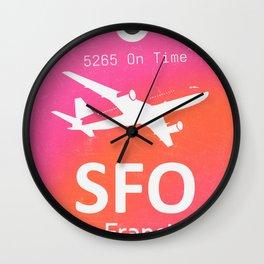 SFO San Francisco Wall Clock