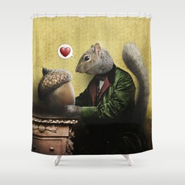 Mr. Squirrel Loves His Acorn! Shower Curtain