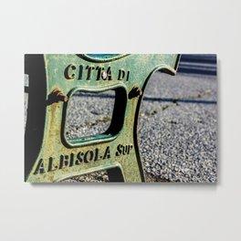 Italian Bench Metal Print