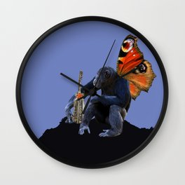 Monkey Surreal Collage Wall Clock