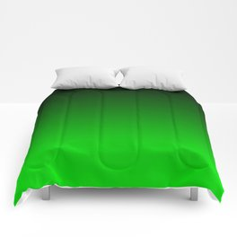 Black and Lime Gradient Comforters