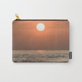 Red sunset in the ocean Carry-All Pouch