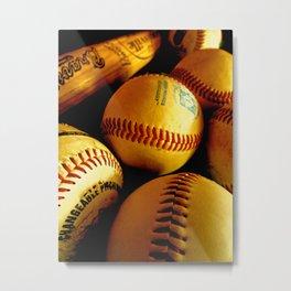 Baseball Days Metal Print