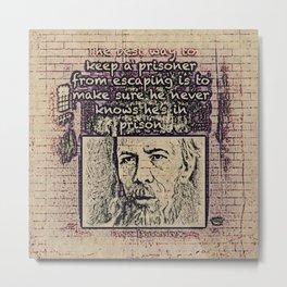 Dostoevsky Metal Print
