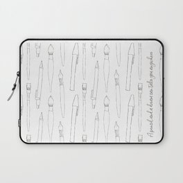 A pencil and a dream... white! Laptop Sleeve