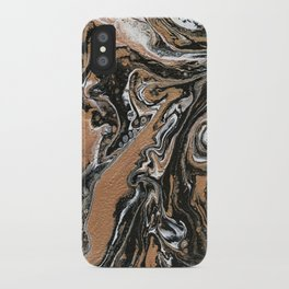 Fluid Gold - Abstract, acrylic, art painting iPhone Case