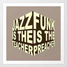 Jazz Funk Cube Art Print