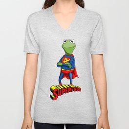 Kermit the Superman Unisex V-Neck