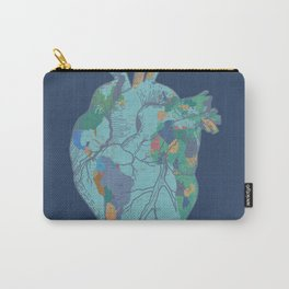love to travel-world map 2 Carry-All Pouch