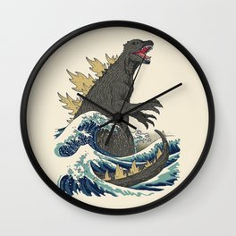 The Great Monster Off Kanagawa Wall Clock