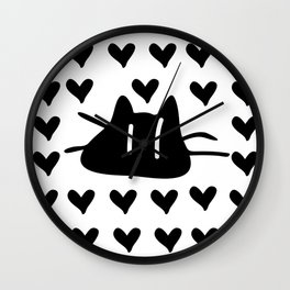 LOVE LOVE CAT Wall Clock